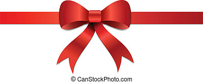 Christmas gift Bow illustration - Big red Christmas bow ...