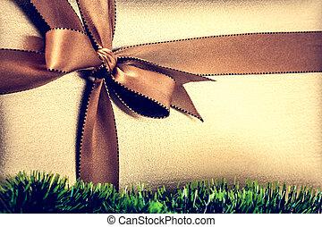 gift box - Christmas gift box. Christmas background, Happy...