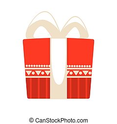 Christmas gift box for holiday. Vector Illustration.