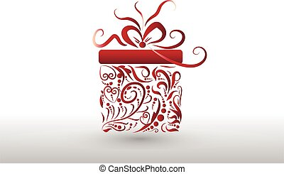 Christmas gift box holiday symbol