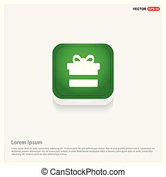 Christmas Gift Box Icon Green Web Button