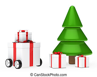 christmas gift box vehicle