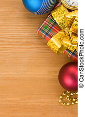 christmas gift box with balls