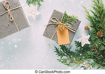 Christmas Gift boxes.