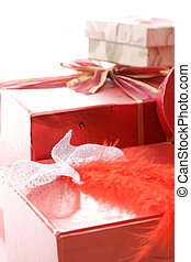 christmas gift boxes isolated