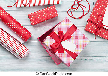 Christmas gift boxes wrapping