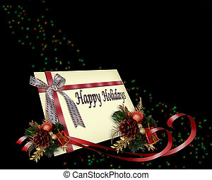 Christmas Gift Card red ribbons