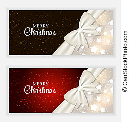 Christmas Gift Card Set Vector Illustration