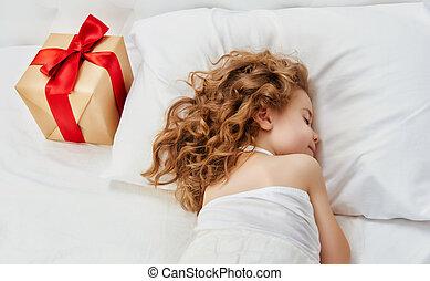 christmas gift - Christmas gift on the bed