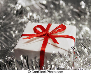 Christmas gift in soft focus