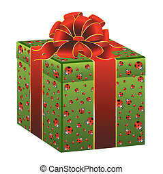 gift on a white background