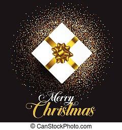 christmas gift on glitter background 1709