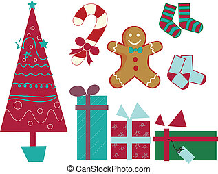 Christmas gift pack vector
