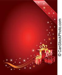 Christmas Gift page, vector