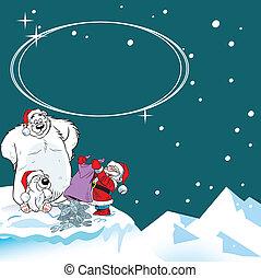 Christmas gift polar bears