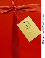 Christmas Gift - Red Gift Bag