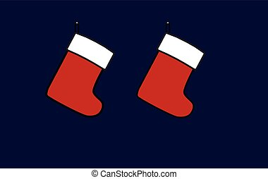 Christmas gift sock on a dark background