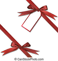 Gift Tag Hanging from a Present