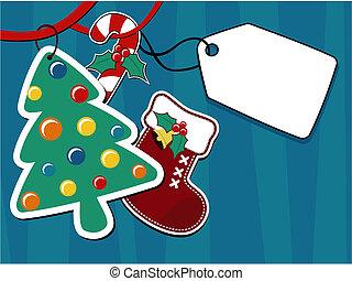christmas gift tag ornaments