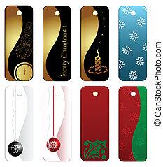 Christmas gift tag set, eps8