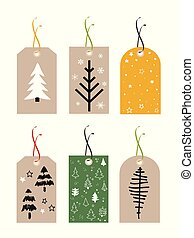 Christmas Gift Tags, set