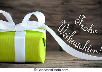 Christmas Gift with Frohe Weihnachten