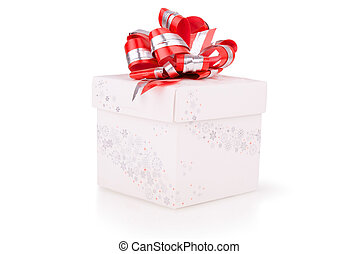 Christmas gift with red bow