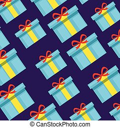 christmas gift with ribbon bow background