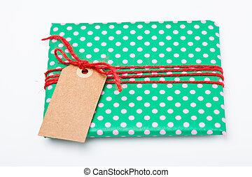 Christmas gift with tag