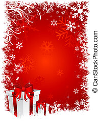 christmas gifts 2 - Christmas gifts on snowy background