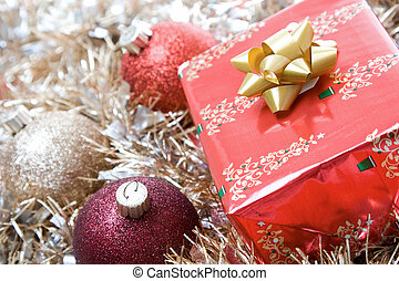 Christmas gifts - A shot of christmas gifts and ornaments