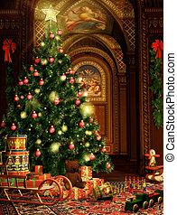 Christmas Gifts - a christmas fir and christmas gifts