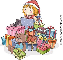 Christmas Gifts Illustration