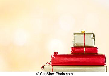 Christmas Gifts on Bokeh