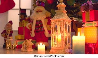 Christmas gifts under the Christmas tree. Christmas holiday...