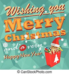 Christmas gifts vector background