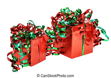 Christmas Gifts with Clipping Path