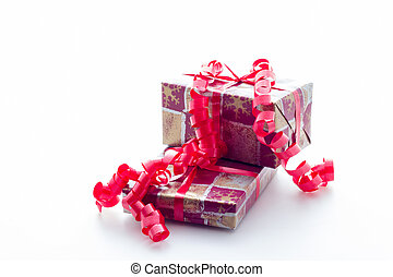 Christmas gifts with white background