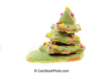 christmas ginger bread christmas tree isolated