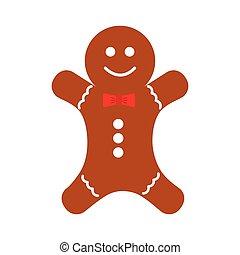 christmas ginger bread decorative icon