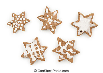 christmas ginger cocoa cookies made by kid set of five