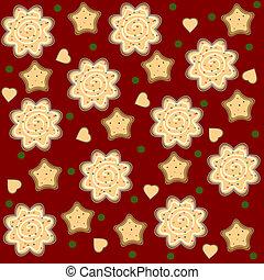 christmas ginger seamless pattern v