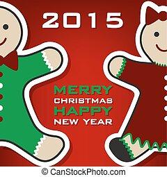 Christmas gingerbread card 2015