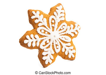 christmas gingerbread cookie isolated