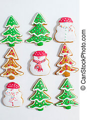 Christmas gingerbread cookie made i
