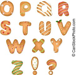 Christmas Gingerbread Cookies Alphabet