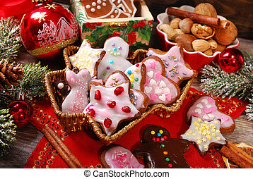 christmas gingerbread cookies made by kids