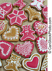 Christmas gingerbread home cooking