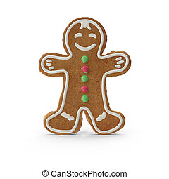 Christmas gingerbread in the form of a little boy