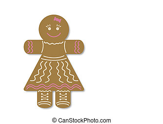 Christmas gingerbread in the form of a little girl